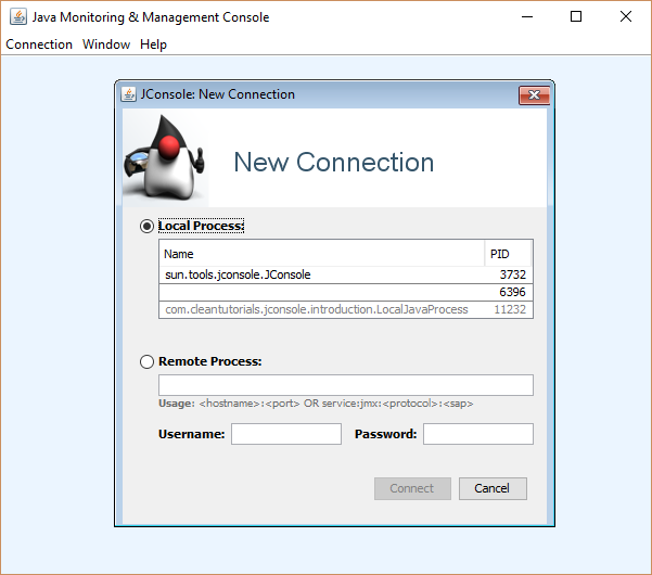 Downloading JConsole and connecting it to a local Java process